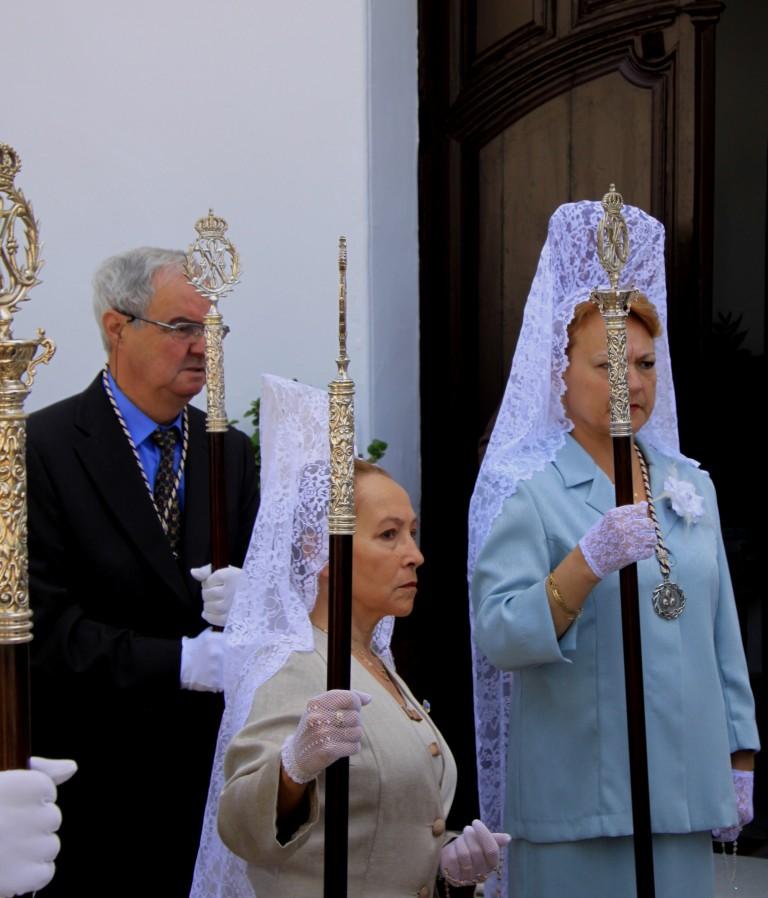 Semana santa tolox sierra de las nieves Easter Sunday parade Mantilla